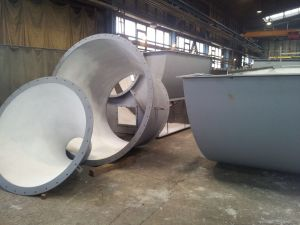 Applications of materials TRIBET in suction plants (piping)